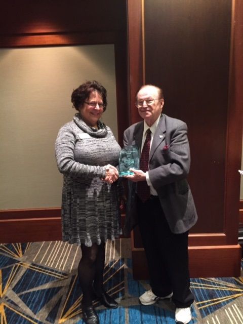 Clerk Levy Honored with the  William Z. Ahrends Award