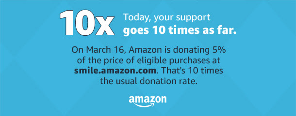 Shop AmazonSmile on March 16th for the Niles Township Food Pantry Foundation!
