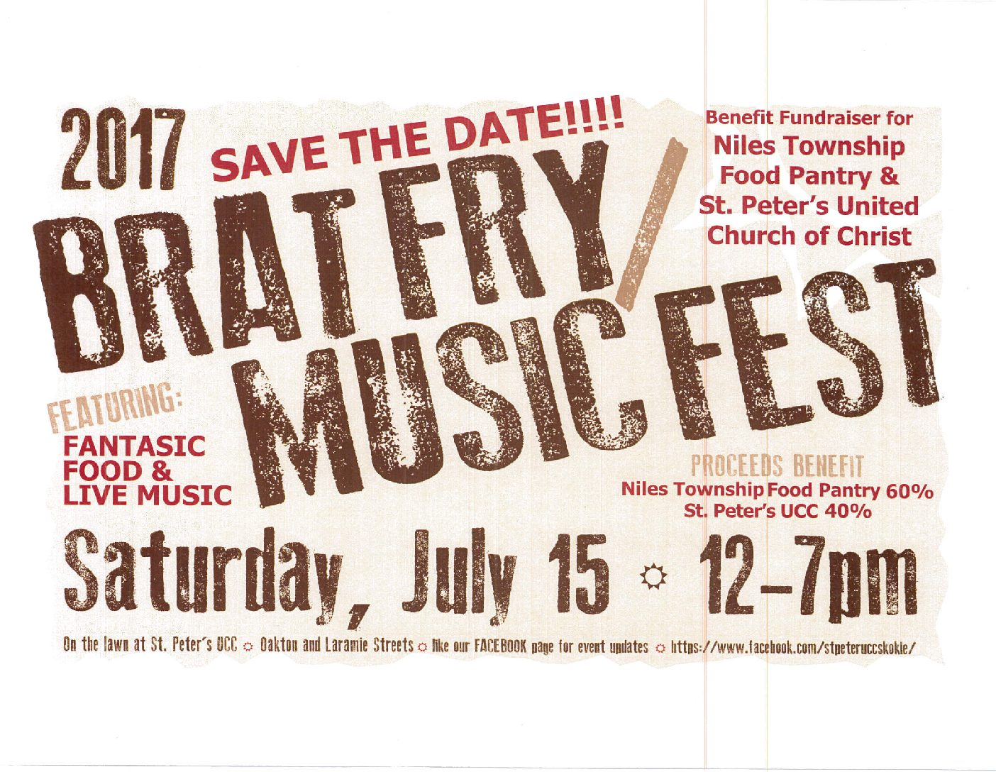 SAVE THE DATE – BRAT FRY ON JULY 15th