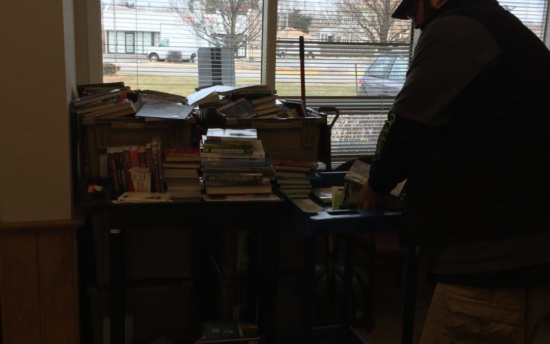 Today's Bernie's Book pick up amounted to over 1,600 books.